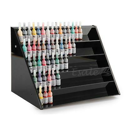 Acrylic 5-tier Tattoo Ink Nail Polish Display Stand Rack Organizer Holder Black