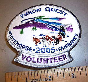 2005-Alaska-Yukon-Quest-1000-mile-Dog-Sled-Race-Embroidered-Patch-Volunteer