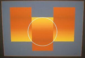MODERN-1971-JULIAN-CASADO-ESTIO-OP-ART-ABSTRACT-GEOMETRIC-PAINTING-LISTED