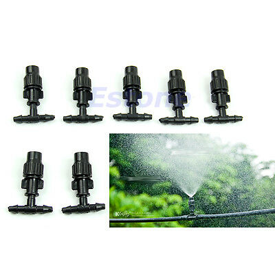 NEW 10 X Greenhouse Flower Plant Garden Misting Atomizing Sprinkler Nozzles Tee