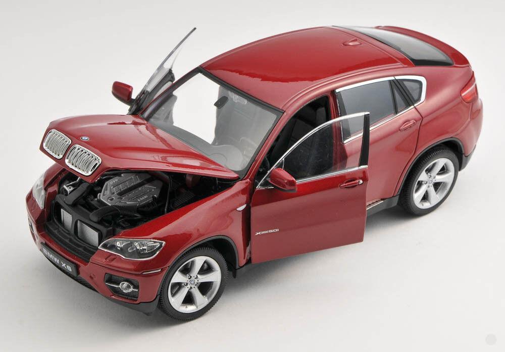 BLITZ VERSAND BMW X6 X6 X6 dunkel red metallic 1 24 Welly Modell Auto NEU & OVP aa22d8