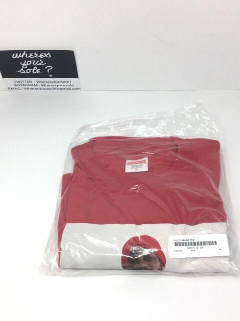 c98fc407 Supreme Gucci Mane photo Tshirt Medium M tee Red New Unopened DS | eBay