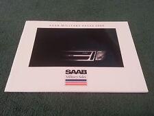 1988 Saab Militar USA 38pg color folleto de ventas 9000 900 S Turbo Convertible