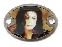 Michael Jackson sepia Photo Oval Metal Belt Buckle Official Collectible