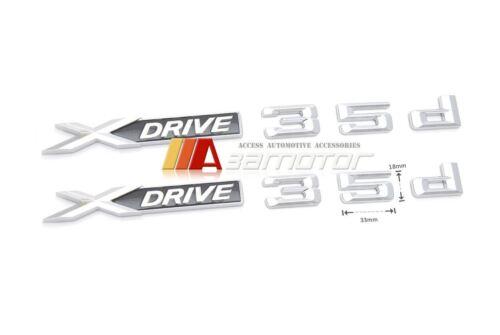 2 x Fender Side Emblem Badge X DRIVE 35d for BMW X3 X4 X5 E83 F25 F26 E70 E71