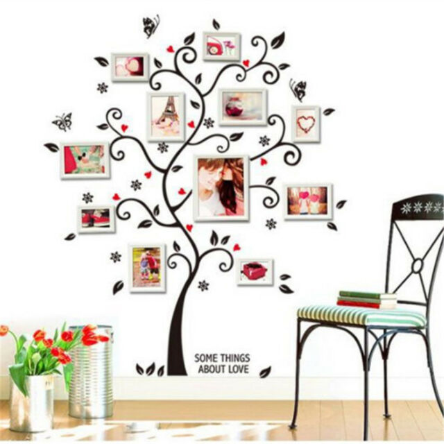 Happiness Photo Frame Tree Wall Sticker For Living Room Bedroom Decoration QC