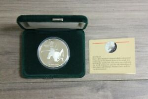Calgary-1988-20-one-troy-oz-Silver-Coin-XV-Olympic-Winter-Games-Biathlon