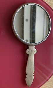 Antique-3-Inches-With-Marks-M-M-A-Hand-Mirror-Brass-or-Bronze-Very-Rare