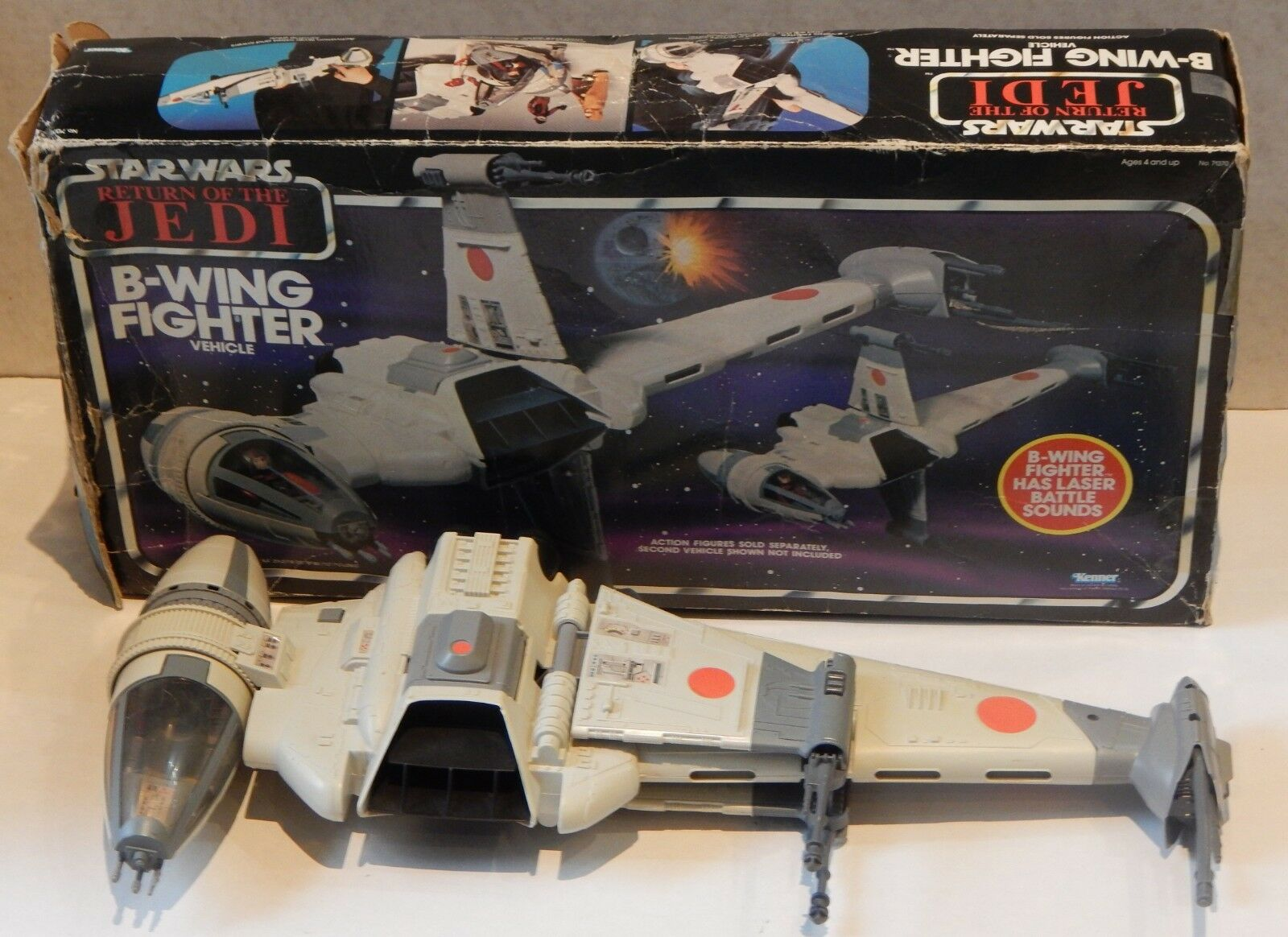 1983 vintage Star Wars B-WING FIGHTER Kenner action figure vehicle w/ BOX ROTJ