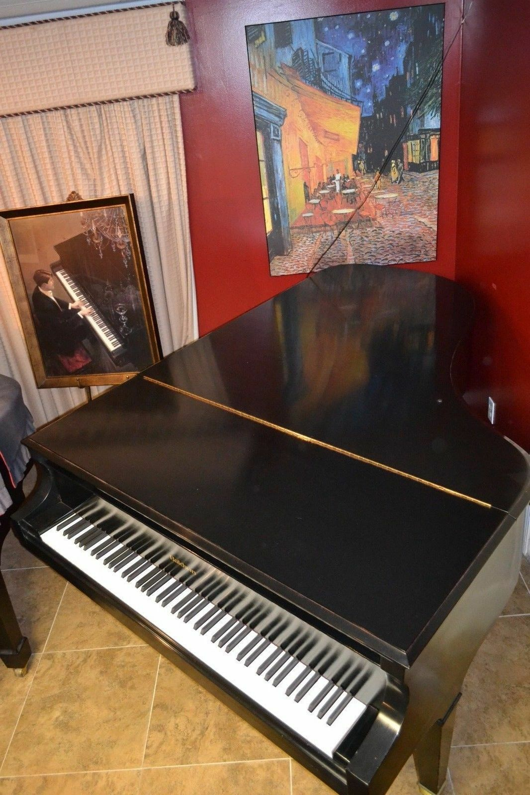s l1600 - Baldwin 7' Model SF10 semi concert grand piano (watch video w/Yamaha c7 HQ mics)