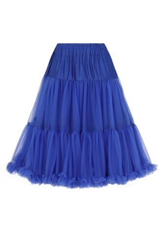 Royal Blue 50/'s Rockabilly Super Soft 23 inches Petticoat Skirt Banned Apparel