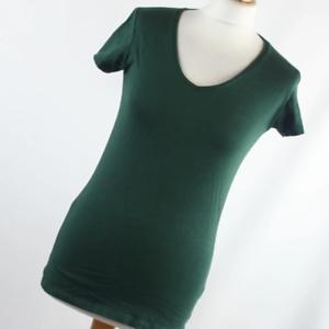 Atmosphere-Womens-Size-10-Green-Plain-Basic-Tee