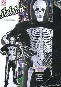 Vestito-Abito-Costume-Carnevale-SCHELETRO-SKELETON-5-7ANNI-TG-S