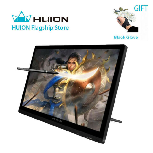 huion gt 191 19 5 inch ips hd drawing monitor graphic tablet pen