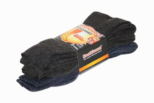 2 COLOURS Mens THERMAL SOCKS UK 7-11 *3 PACK* Warm//Winter//HeatGuard SK116