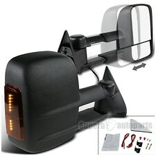 1988-1998 Chevy C/K C10 1500 Manual LED Signal Towing Telescopic Mirrors