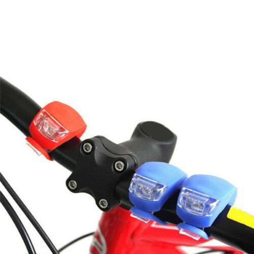 2Pcs Silicone Bicycle Bike Cycle Safety LED Head Front /& Rear Tail Light Set EL