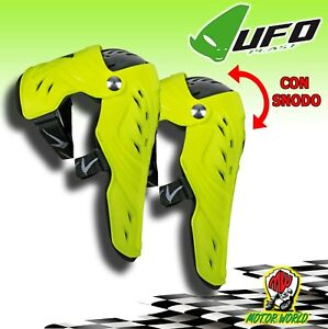 UFO Genouillères Articulé Syncron Protection Genou Moto Cross Enduro Jaune