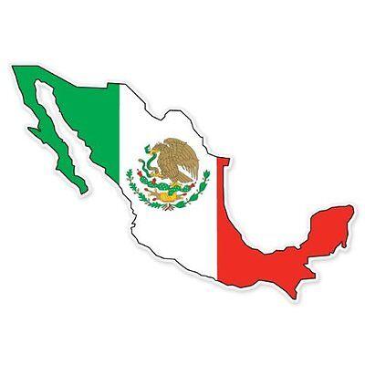 Mexico Flag Vinyl Decal Bumper Sticker 2-Pack Car Truck Van Laptop Window