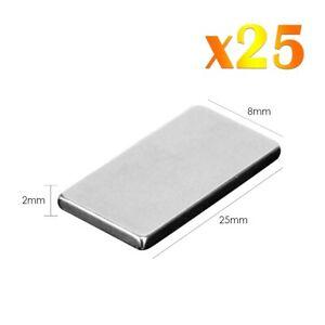 25-x-Neodymium-Rectangular-Magnets-Super-Fort-Rare-Terre-Block-NdFeb-N52-Grade