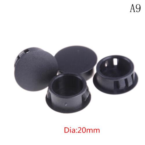 4Pcs//lot Black Plastic Round Tube Hole Plug Pipe End Cap Cover New.PLFLA