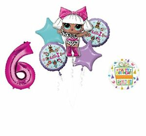 LOL-Party-Supplies-6th-Birthday-Balloon-Bouquet-Decorations