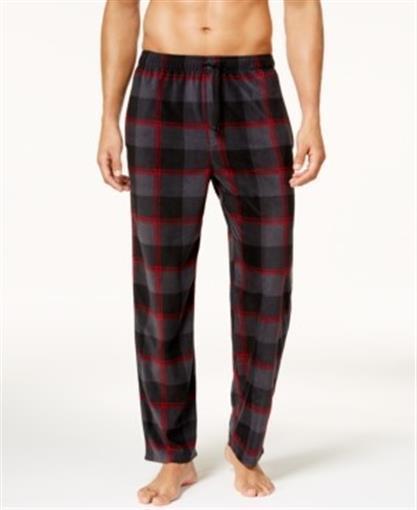 Perry Ellis Men/'s Buffalo Check Plaid Fleece Pajama Pants 112092