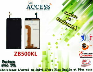 Ecran-complet-Asus-Zenfone-Go-ZB500KL-X00ADB-X00ADA-noir-vitre-tactile-LCD