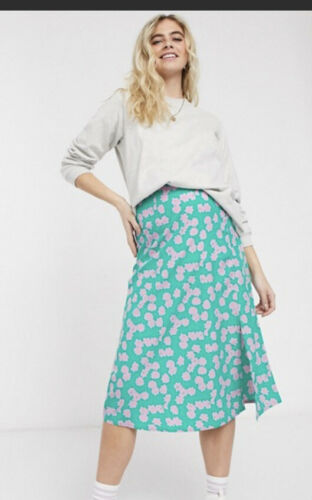 Wednesday/'s Girl Skirt Maternity Size 12,18 Smudge Floral Midi EJ74 Bump Baby