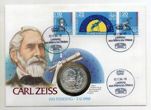 Numisbrief-Carl-Zeiss-100-Todestag-mit-10-DM-Muenze