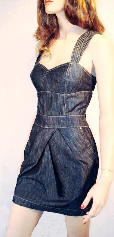 Karen Millen figurbetontes Jeans-Kleid  cut outs Tulpenrock Neu