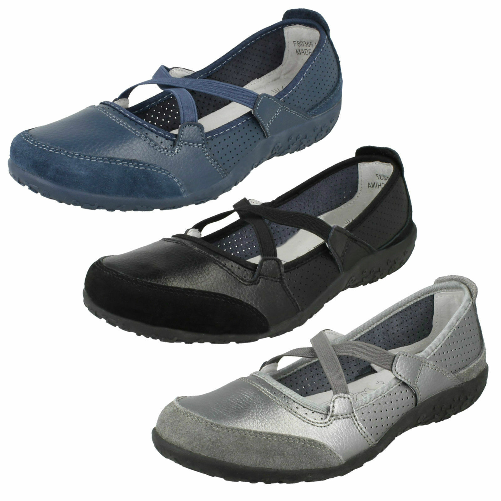 Down To Earth F80366 Ladies Flat Casual shoes
