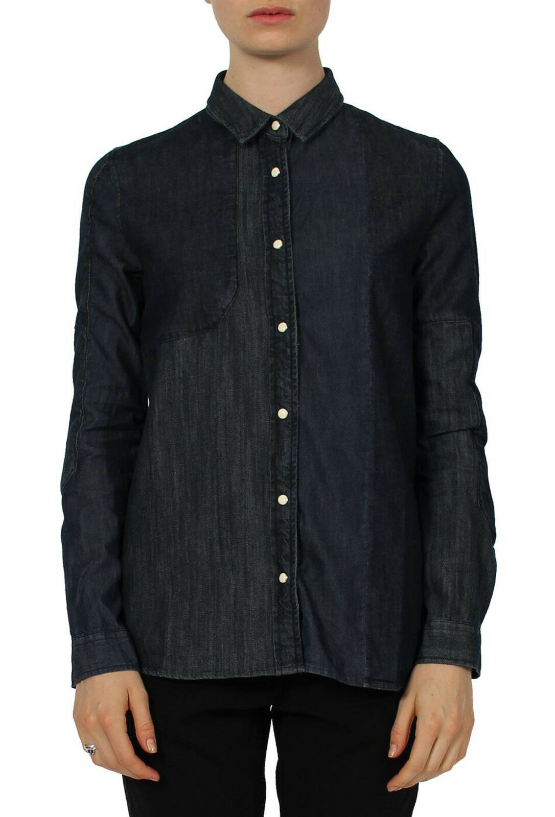 SURFACE TO AIR Woherren Dark Blau Stormy Denim Shirt Sz 38  NEW