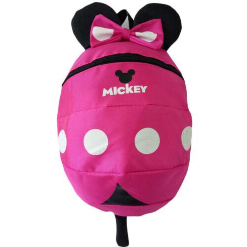Children Girls Mickey Dinosaur Anti-Lost Safety Reins Walking Toddler Backpacks