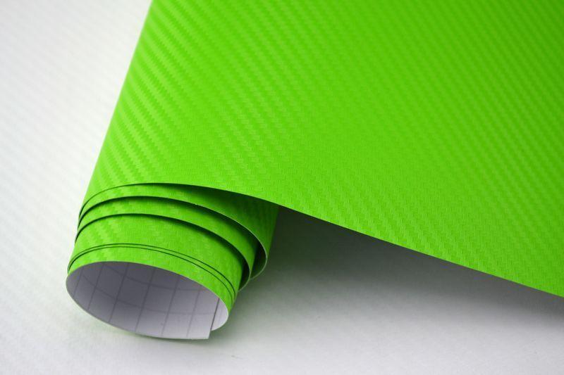 m2 3d Carbon Film Vert Bulles mouvement 600 x 152 cm Film Adhésif Carbone Optique