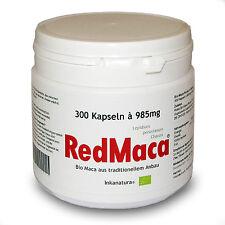 RED MACA® BIO 300 Stk. KAPSELN à 985mg aus Peru - Maca HOCHDOSIERT! Inkanatura®