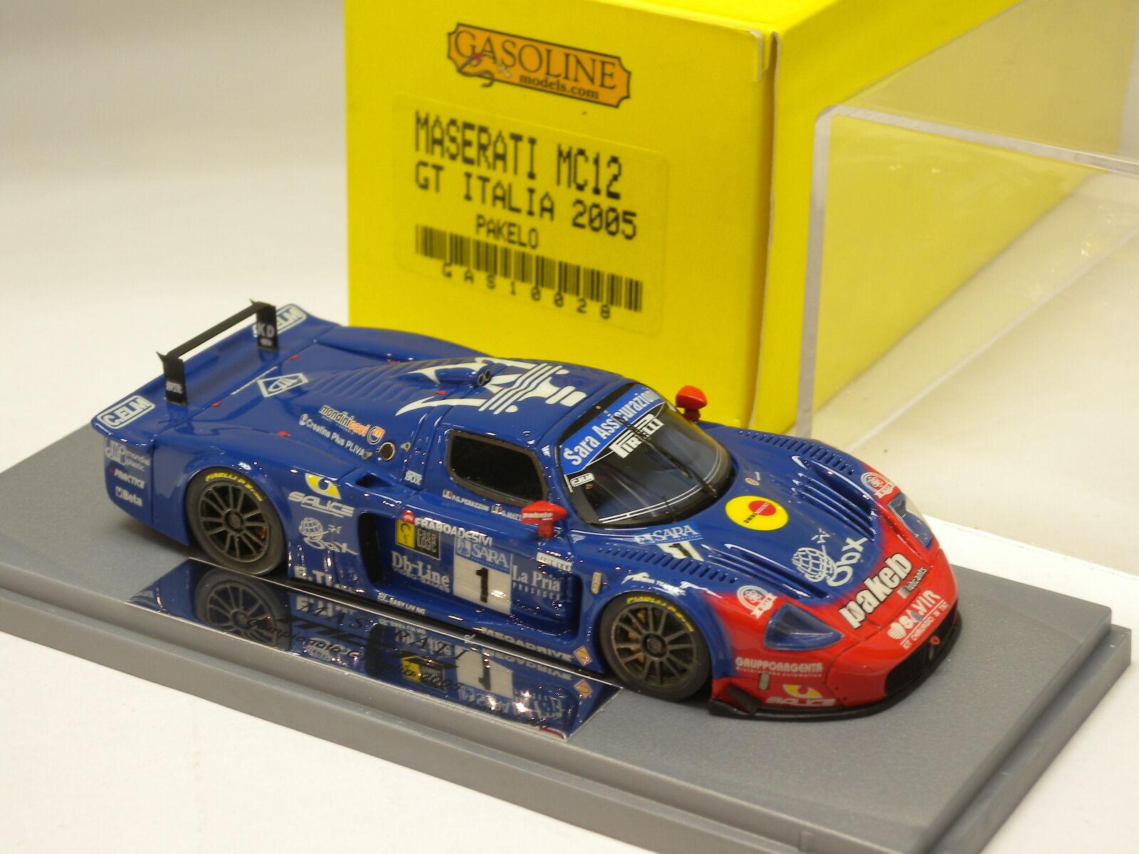 consegna lampo MASERATI MC12 GT GT GT ITALIA 2005 PAKELO GASOLINE modello 1 43 GAS10028  punto vendita