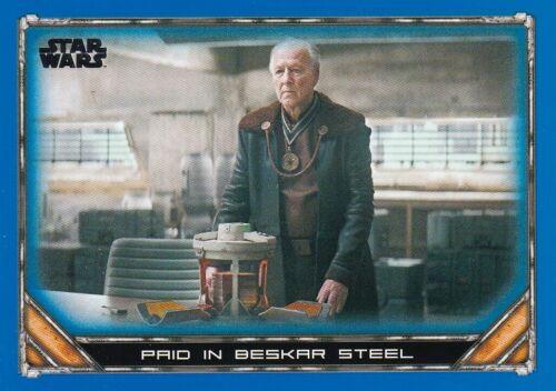 2020 Star Wars The Mandalorian Season 1 Blue #28 Paid in Beskar Steel