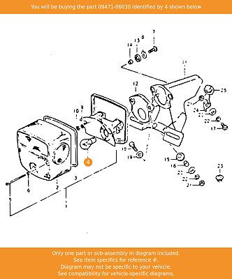 OEM Suzuki 09471-06004 Speedometer Pilot Bulb NOS