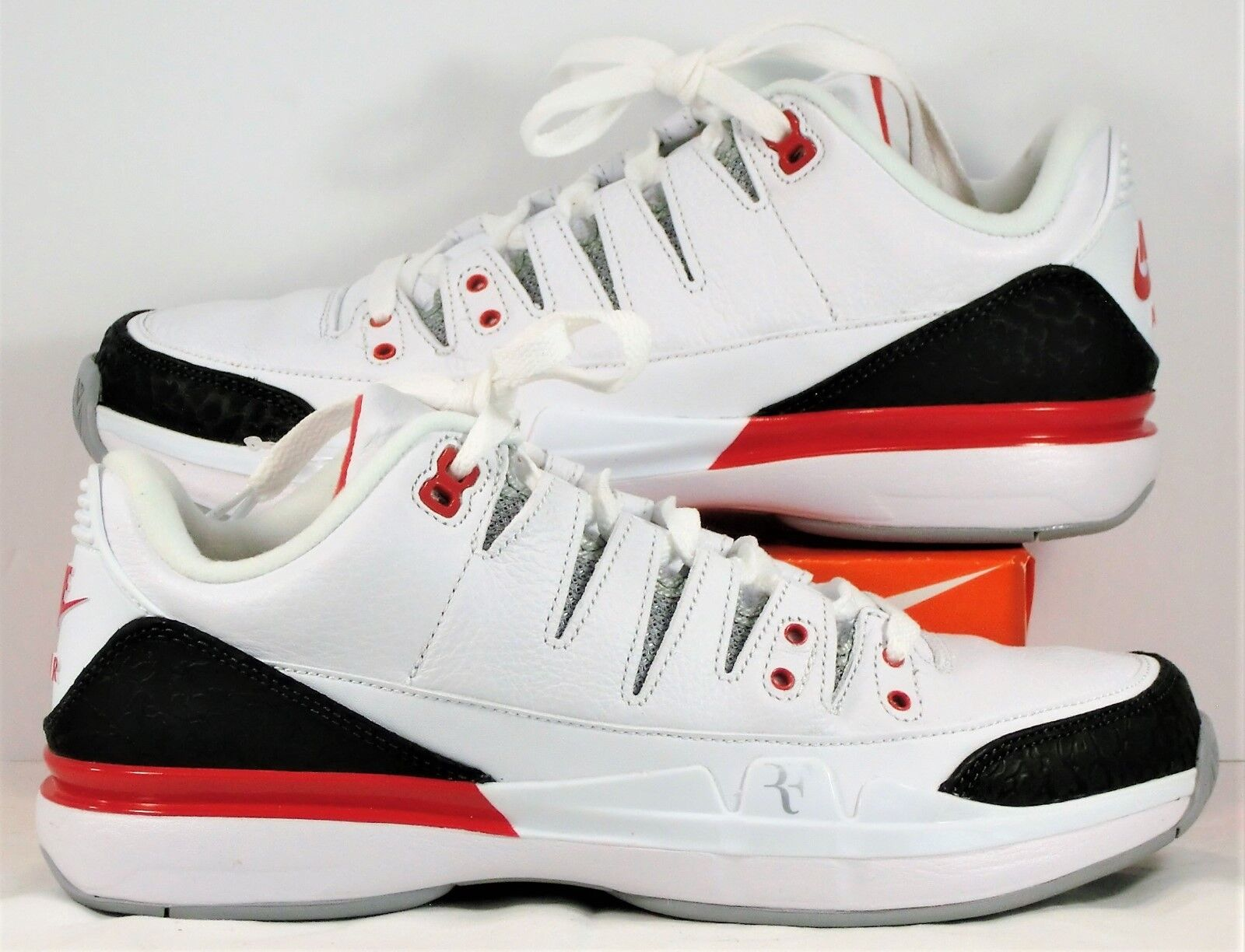 Nike Zoom Vapor RF X AJ3 Roger Federer Red Tennis Shoe Sz 4.5 NEW 709998 106