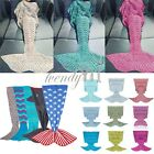 Mermaid Tail Sofa Blanket Super Soft Crocheted Knitting Woolen Sleeping bag Rug