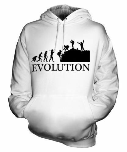 MOUNTAINEERING GROUP EVOLUTION OF MAN UNISEX HOODIE  Herren Damenschuhe LADIES GIFT GEAR