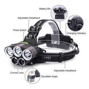 100000LM-5X-XM-L-T6-LED-Headlamp-Rechargeable-Head-Light-Flashlight-Head-Torch-A