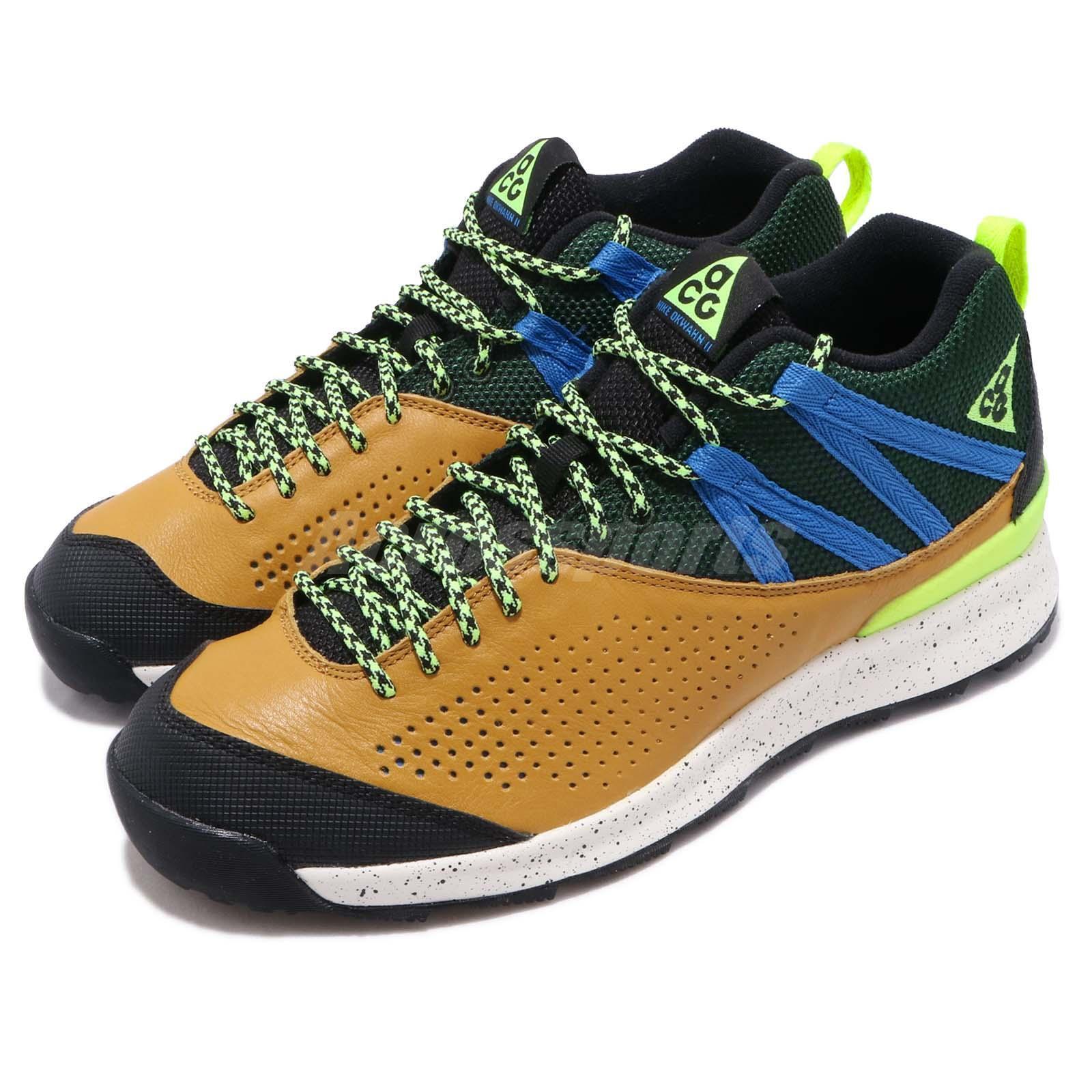 Nike ACG Okwahn II Dark  Citron Green Volt Glow Mens Outdoors shoes 525367-301  for cheap