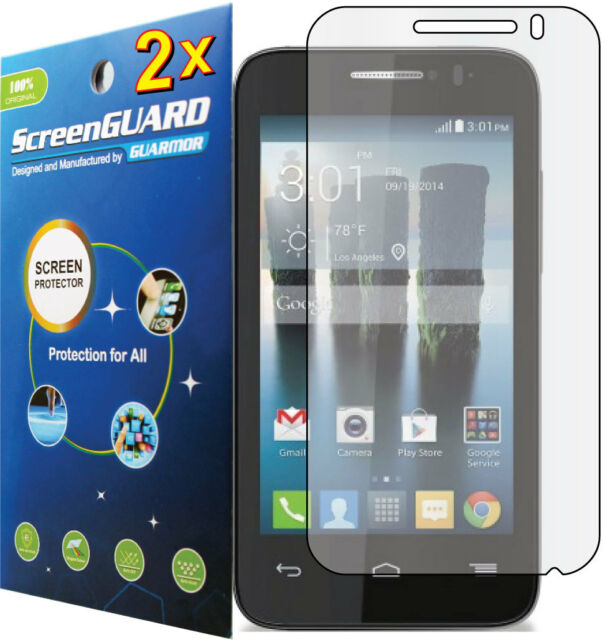 2x Clear LCD Screen Protector Guard Cover Film Alcatel OneTouch Evolve 2 4037T