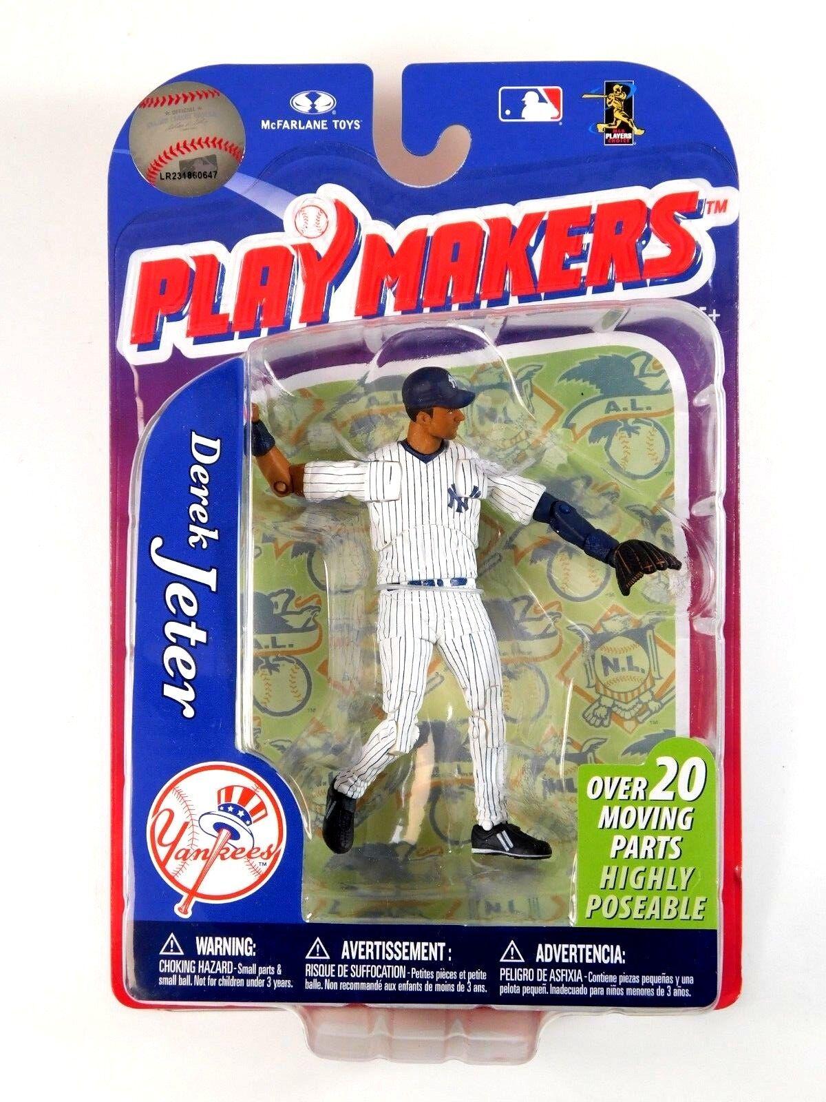 MCFARLANE SPORTS PLAYMAKERS DEREK JETER NEW YORK YANKEES FIGURE 2011 MOC