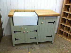 Image Is Loading Pine Freestanding Belfast Butler Sink Unit With Oak