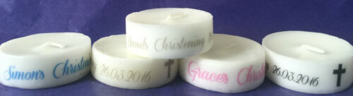 Gift Favour Personalised Baby Christening Candle party baby celebration gift
