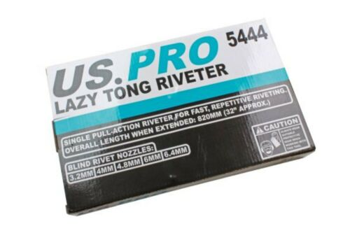 4 4.8 US PRO  Lazy Tong 6.4mm 5444 6.0 Tongue Rivet Gun Riveter  3.2