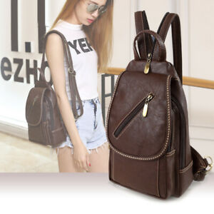 Convertible-Faux-Leather-Small-Mini-Backpack-Rucksack-Sling-bag-Purse-Cute-Bag